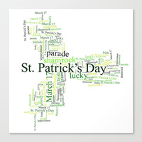 Saint Patricks Day Heritage Canvas Print by kasseggs