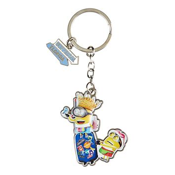 Universal Studios Despicable Me Minion Suitcase Charm Keychain New with Tag