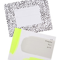 Happy For You Neon Painted Card
