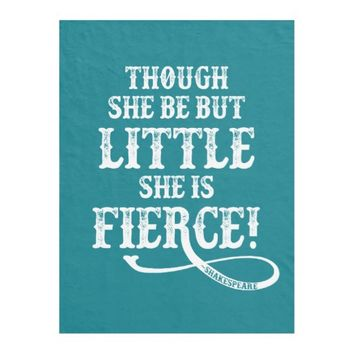 Shakespeare Quote - Fierce Fleece Blanket