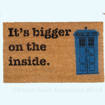 TARDIS Dr. Who doormat funny geekery fan art doormat geek stuff