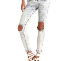 "Refuge ""Boyfriend"" Acid Wash Destroyed Jeans"