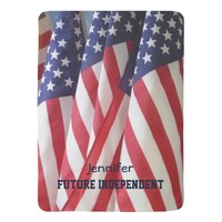 Baby Blanket, American Flags, Future Independent Baby Blanket