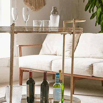 Rebecca Mirror Bar Cart