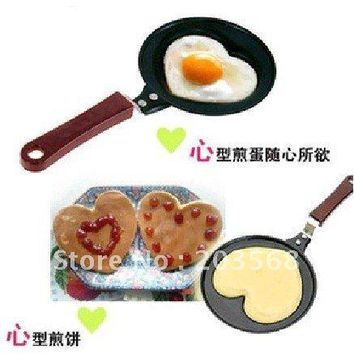 Mini Lovely Heart Shaped Egg Pancake Fry Frying Pan Kitchen Non-Stick Cook Pan good quality