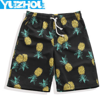 Yuzhou Board shorts men bathing suit body building sports swim short surf boardshorts Black plus size drawstring swimming trunks