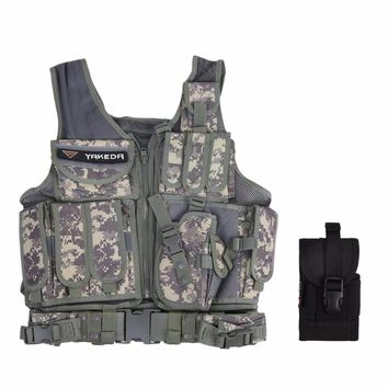 Tactical Vest Outdoor Military Body Armor Wear Hunting Vest Army Swat Molle Vest Camouflage/Army Green Free Shipping