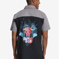 Disney Big Hero 6 Baymax Short Sleeve Woven Button-Up