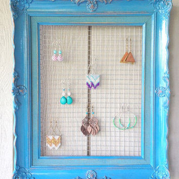Turquoise Frame Earring Display