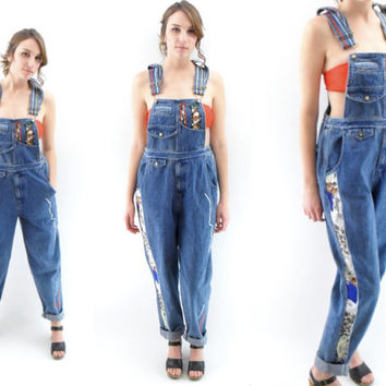 90s Overalls M / 90s hip hop clothing / 1990s grunge clothing / Womens Denim Overalls / 1990s 90s Denim Coveralls By Don't Stop
