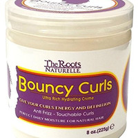 The Roots Naturelle Curly Hair Products Bouncy Curls (8 Ounce). Anti-frizz Cream for Natural Hair