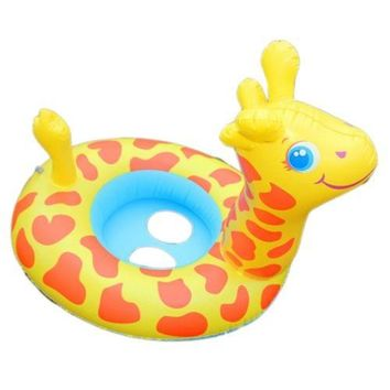 Giraffe Cartoon Children Inflatable Water Taxis Toy
