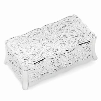 Silver-plated Rectangle Jewelry Box