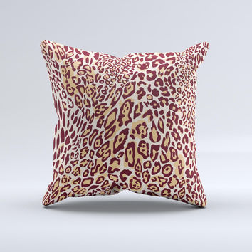 Wild Leopard Print ink-Fuzed Decorative Throw Pillow