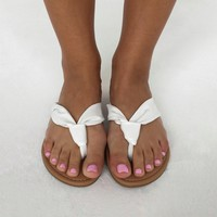 Spring Staple Sandals in White