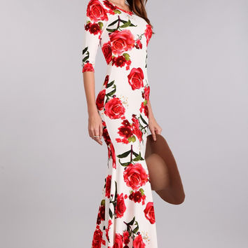 Coming Up Roses Floral Maxi Dress