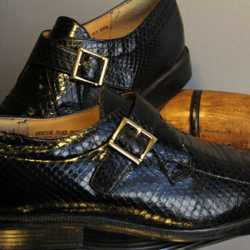Retro Giorgio Brutini Genuine Snake Skin Size 10 M Mens Dress Shoes