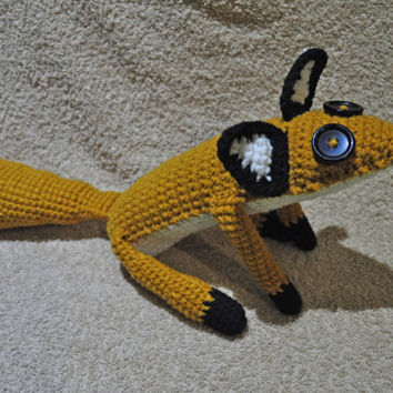 Big fox - fox - crochet fox - stuffed toy fox