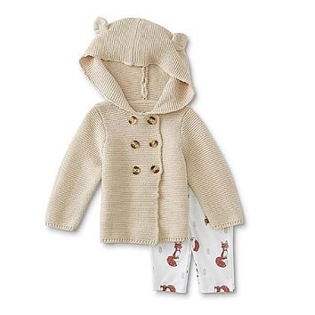 Spencer Spencer Infant Girls' Hooded Sweater Coat & Leggings - Fox