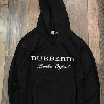 Burberry Woman Men Fashion Embroidery Top Sweater Hoodie G
