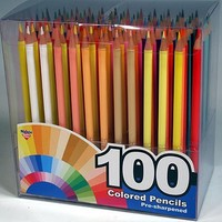 100 Different Color Pencils with Organizer Box