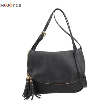 2017 New PU Leather Women Messenger Bags Famous Brands Designer Tassel Crossbody Bags for Women Shoulder Bags Lady Handbag
