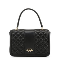 Love Moschino Black Leather Handbag