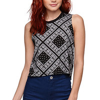Nollie Cropped Muscle Tank Top at PacSun.com