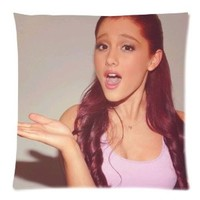 "Ariana Grande Pillowcase Zippered Pillow Case 18""x18""(two sides)"