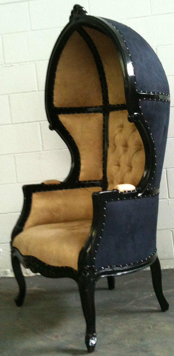 Glamorous Black Amp Beige Porters Chair From Venetiansociety On