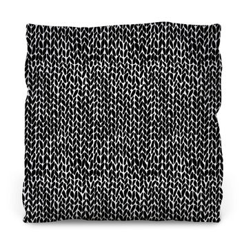 Hand Knit Throw Pillow