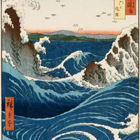 Whirlpool And Waves At Naruto, Awa Province by Hiroshige