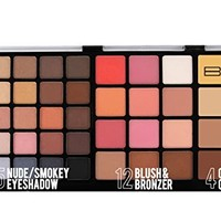 BYS Pro Makeup Palette with eyeshadow, blushes, bronzers, contour creams