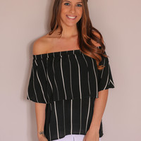 Bold Statement Top - Black