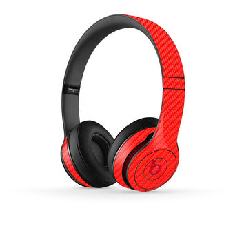 Beats Solo 2 Skin - Red Carbon Fiber