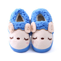 Winter Children Shoes Boys Girls Slippers Cute Cartoon Sheep Kids Home Shoes Soft Comfortable Warm Winter Cotton Home Slippers