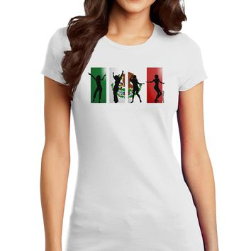 Mexican Flag - Dancing Silhouettes Juniors T-Shirt by TooLoud