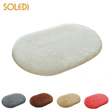 Autumn Fall welcome door mat doormat Carpet Anti-Skid Fluffy Shaggy Absorbent Area Rug Bedroom Bath Floor  5 Colors Finished Carpets For Home AT_76_7