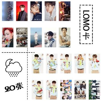 New kpop GOT7 The Same Iron box photo cards LOMO 20 small card