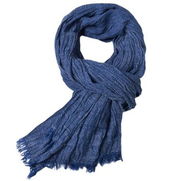 Men's Feathered Edge Scarf