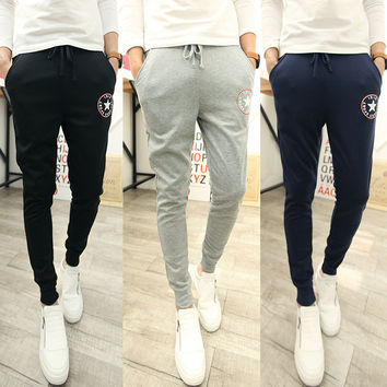 Stylish Korean Men Casual Pants Sportswear Skinny Pants [6533777095]