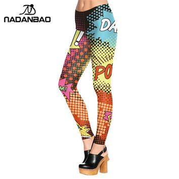 NADANBAO New Design Rock Style Leggings Individuality ROCK AND POP