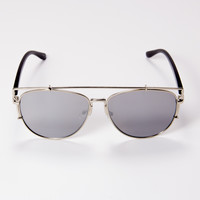 Over You Sunglasses Silver | Disruptive Youth