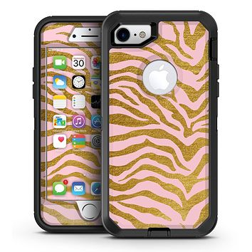 Pink Gold Flaked Animal v5 - iPhone 7 or 7 Plus OtterBox Defender Case Skin Decal Kit