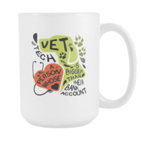 veterinary coffee cup - WhiteVet Tech Bank Account