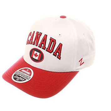 "Zephyr Country Flag Soccer ""Relax Fit"" Snapback Cap - Low Profile Adjustable Baseball Hat (Canada)"