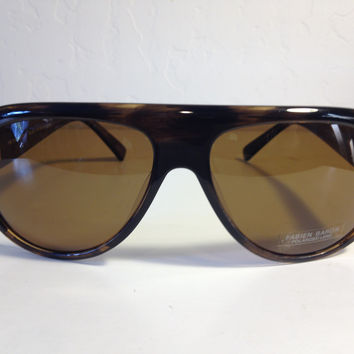 Fabien Baron brown aviator designer sunglasses