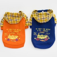Orange Fashion clothes for dogs yorkies blue dog clothes chihuahua winter Jacket for dogs small pets clothing dog coat jackets
