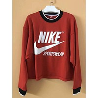 Nike Archive Red Top Sweater Pullover Sweatshirt