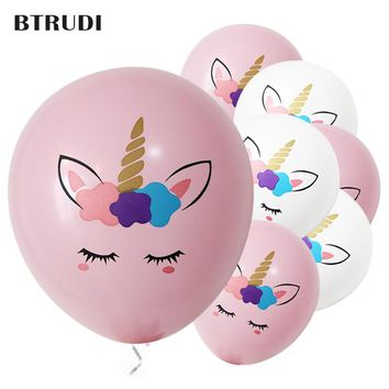 BTRUDI Colorful unicorn printed  balloons 10 inch wedding arrangem birthday decoration kids birthday party supplies air balloon